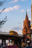 Oberbaumbruecke at Spree River — Stock Photo