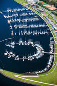 Harbor with ships — Stockfoto