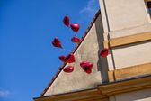 Floating balloons — Stock fotografie