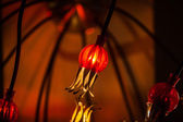 Stylish red lamp — Foto Stock