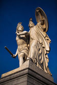 Statue of Greek warriors — Stock Photo