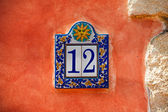 Number twelve on a wall — Stock Photo