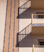 Shadows of balconies — Stock Photo
