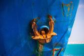 ржавый якорь — Стоковое фото