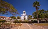 Picturesque white church — Stock Photo