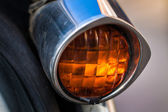 Vintage back light of car — Stock Photo