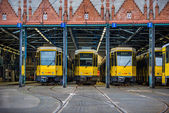 Three Berlin trams — Photo