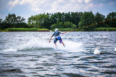 Surfs on a wakeboard — Foto Stock