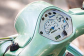 Speedometer from a green Vespa  — Stockfoto