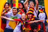 Public viewing at the socker Wold Cup 2014 — Stock fotografie