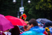 Public viewing at the socker Wold Cup 2014 — Stock Photo