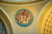 Classic art mural on a ceiling — Stock Photo