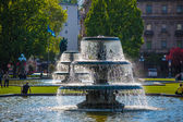 Ornamental fountains in a park — Stockfoto