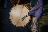 Medieval Drummer — Stock Photo