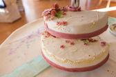Decorative wedding cake — Stock Photo