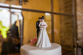 Wedding cake figures — Stockfoto