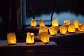 ロマンチックなキャンドル ライト — ストック写真