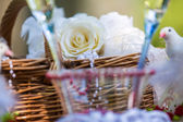Decorative wedding table — Stockfoto