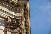 Ornamental edge of a gable — Stock Photo