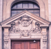 Gable over a door — Stock Photo