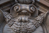 Decorative stucco in a gable — Stock Photo