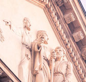 Statues in a gable — Stock Photo