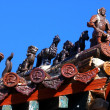 Roof of the buddhistic monastery - Stock Photo
