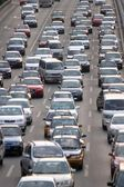 Traffic jam in the Beijing — Stock Photo