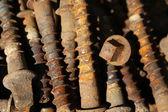 Rusty screws — Stock Photo