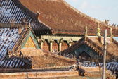 View of a buddhist monastery roof, Mongolia — Stock Photo