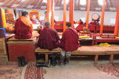 Lamas in buddhist monastery, Mongolia — Photo