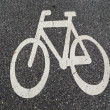 Bicycle road sign — Stock Photo