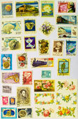 Old Stamps Collection — Stock Photo