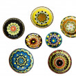 Set of Ceramic Plates with Thracian Painting — Stock Photo #22093163