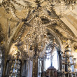 A Chandelier and Decoration from Human Sculls and Bones — Stok fotoğraf