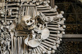 A Fragment of Decoration from Human Sculls and Bones — Stock Photo