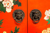 Chinese door with a knocker — Stock Photo