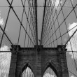 Постер, плакат: The Brooklyn Bridge in New York City