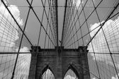 The Brooklyn Bridge in New York City — Stock Photo