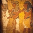 Egyptian Wall Mural — Stock Photo