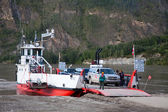 Ferry Docked on Yukon — Stock Photo