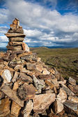 Rock Cairn Overlook — Stock Photo