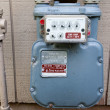 Natural Gas Utility Meter — Stock Photo