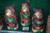 Carved Bear Decoration — Stock Photo