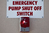 Emergency Shut-off Switch — Stock Photo
