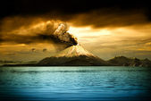 Volcanos and all things related — Stock Photo