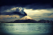 Vulkan och allt som rör — Stockfoto