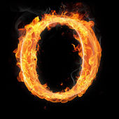 Burning objects and objects on fire background — Stock Photo