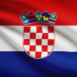 Series of ruffled flags. Republic of Croatia. — Stock Photo