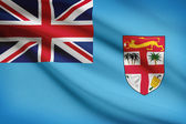 Series of ruffled flags. Republic of Fiji. — Stock Photo